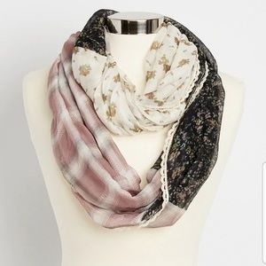 Maurices Mixed Print Infinity Scarf